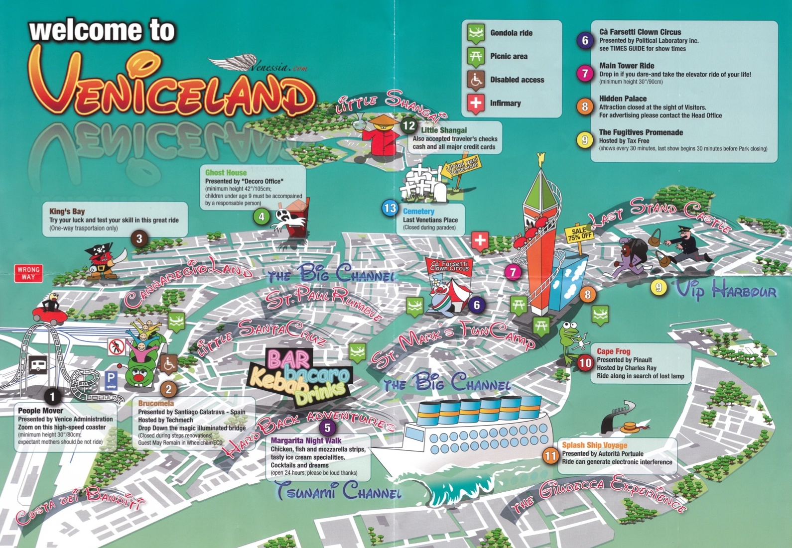 Is Venice now a new Disneyland – Venice Italy Tourist Map